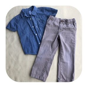 6/$15 4T Carter's top & pants outfit